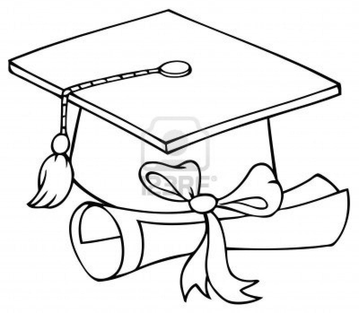Graduation cap coloring page graduation cap coloring page coloring pages pictures imagixs