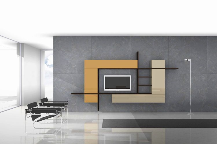 MINIMAL, MODERN INTERIOR DESIGN Refined minimal interior design - designer wall unit