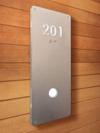 Luxello illuminated Modern Room Number Sign Braille ...