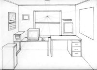 1 Point Perspective Drawing Room One Point Perspective ...