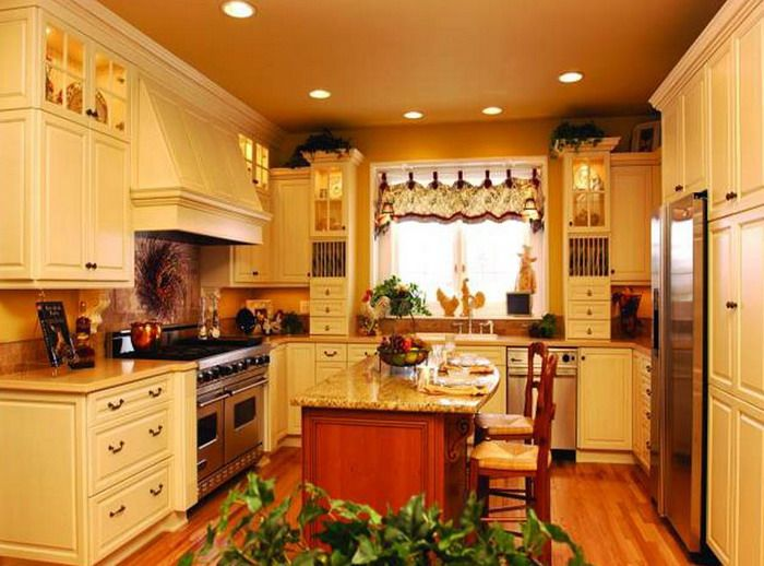 French Country Kitchen Furniture Set Decorating Ideas Picture - small country kitchen ideas