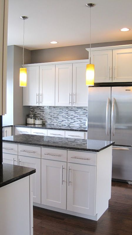 white kitchen cabinets grey countertops - Google Search Kitchen - white kitchen cabinets