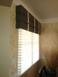 Hunter Douglas sihouettes with a custom mock roman valance ...