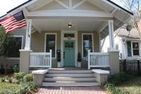 uncovered Front Porch on brick house | Superb House Front ...
