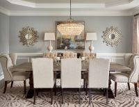 59020 Round mirror in dining room dining room transitional ...