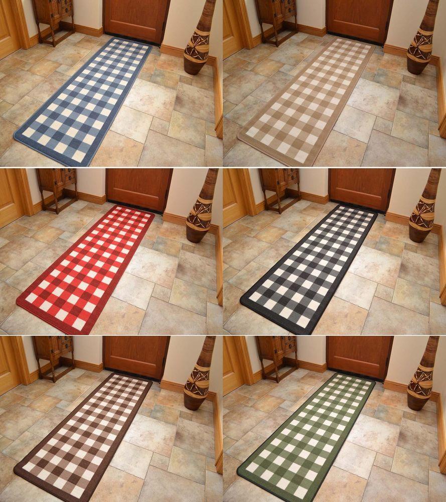 kitchen floor runners Non Slip Rubber Backing Long Narrow Hall Rugs Kitchen Floor Carpet Runner Mats