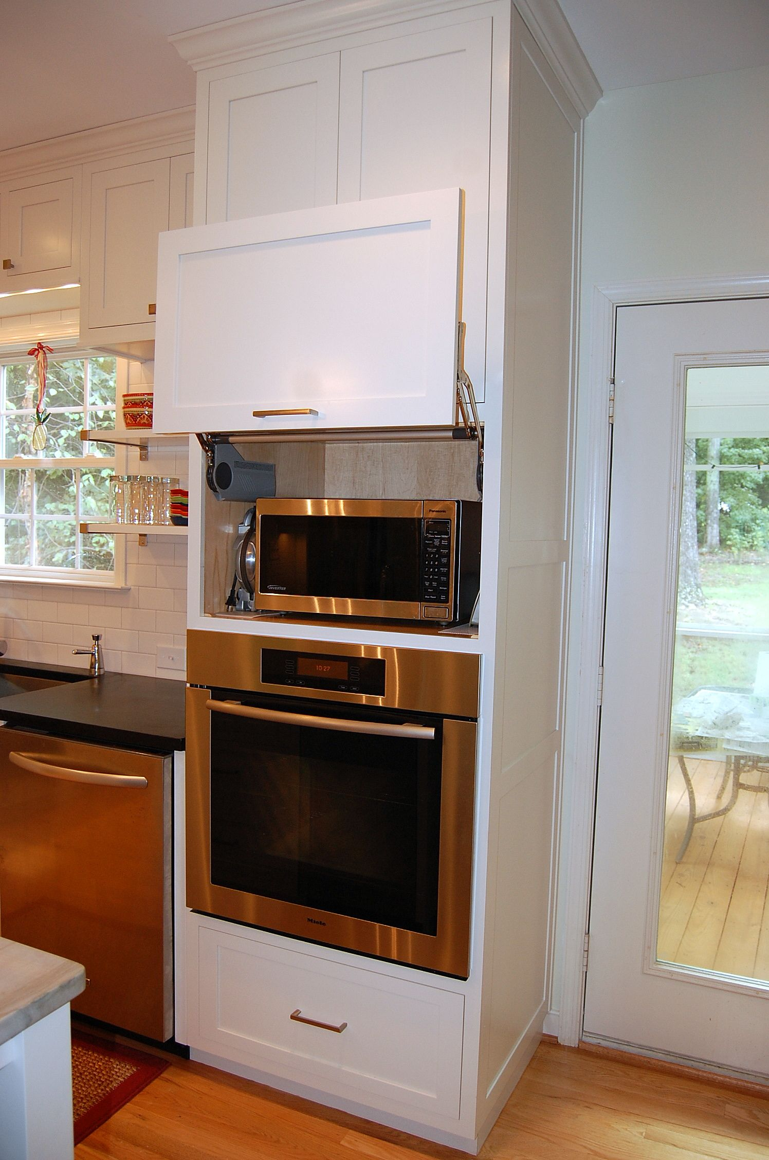 Oven In Island Unit Hidden Microwave Above Wall Oven Unit Kitchen Design By