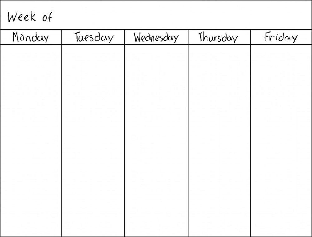 Blank Weekly Calendars Printable Activity Shelter Calendar - weekly calendar printable