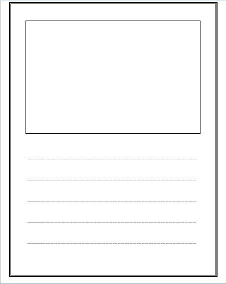 Free lined paper with space for story illustrations Checkout the - lined page