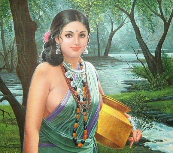 Hindustani Girl Wallpaper 5 Jpg 576 215 510 Paintings Pinterest Www Pinterest