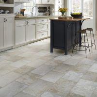 Resilient Natural stone vinyl floor upscale rectangular ...