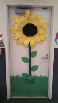 Sunflower door | birthdays in the classroom | Pinterest ...