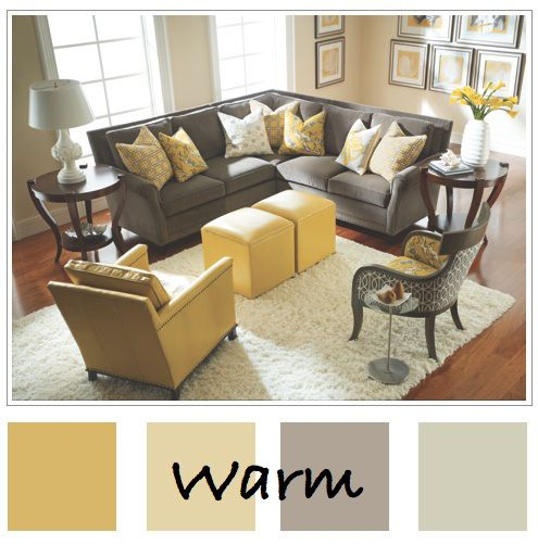i loooove the grey + yellow color combination, but i especially - bedroom living room combo