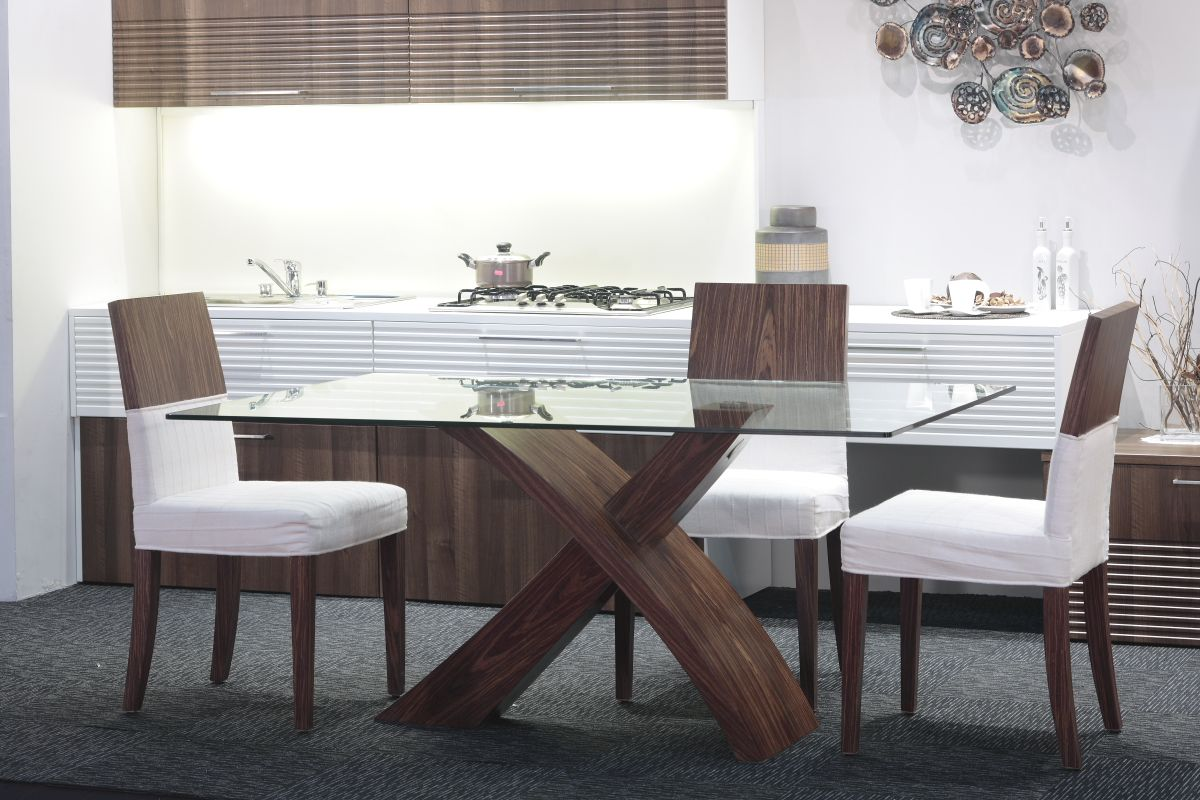 kitchen table chairs Glass Top Modern Dining Tables For Trendy Homes