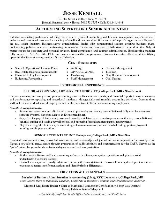 Accountant Resume Examples Samples You may look for Accountant - accountant resumes
