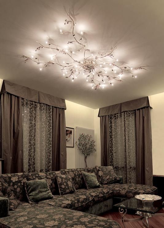 Mesmerize your guests with these gold contemporary style ceiling - living room light fixtures