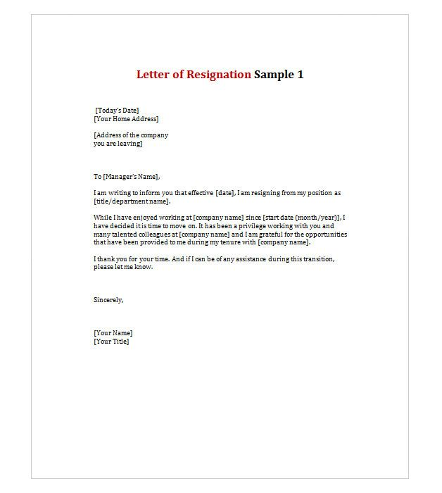 Letter Of Resignation 1 Work Stuffs Pinterest Long Distance   Different  Types Resignation Letters ... Nice Design