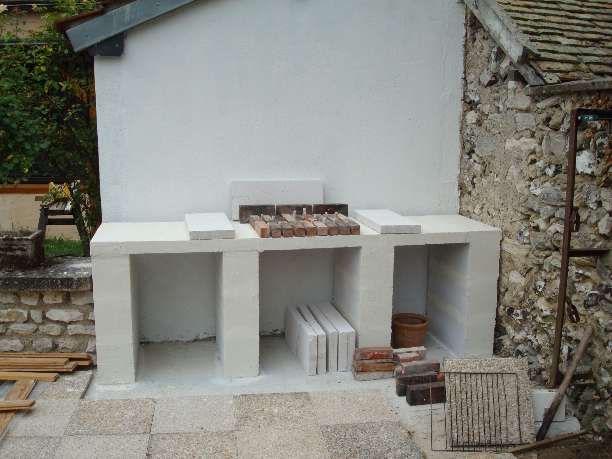 Amenagement Terrasse Barbecue Construction D 39un Barbecue Sur Mesure Barbecue