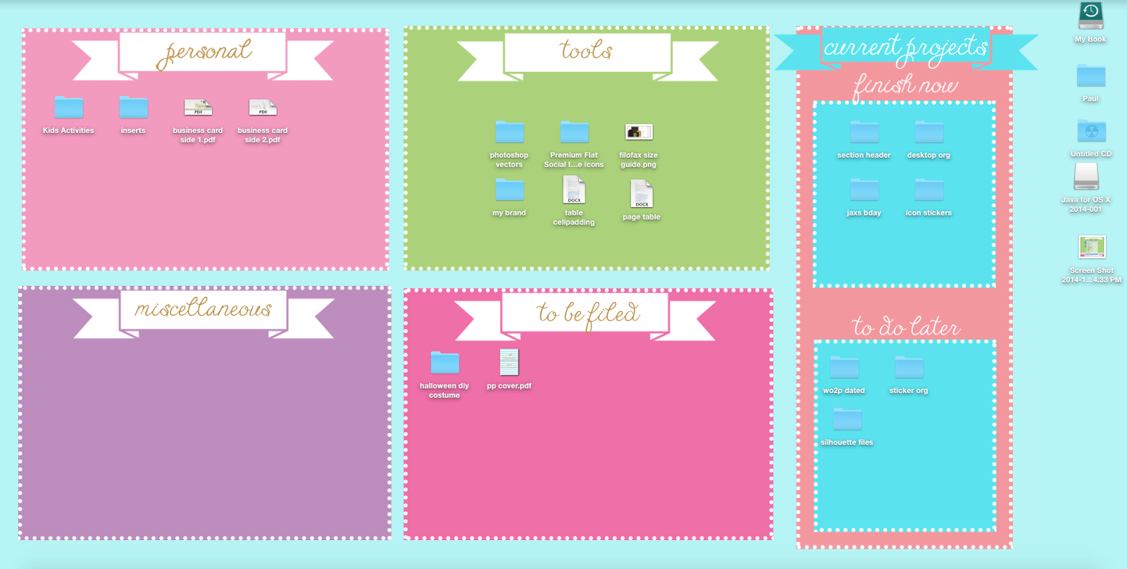 Cute Desktop Organizers Planners And Printables Organized Desktop Wallpaper