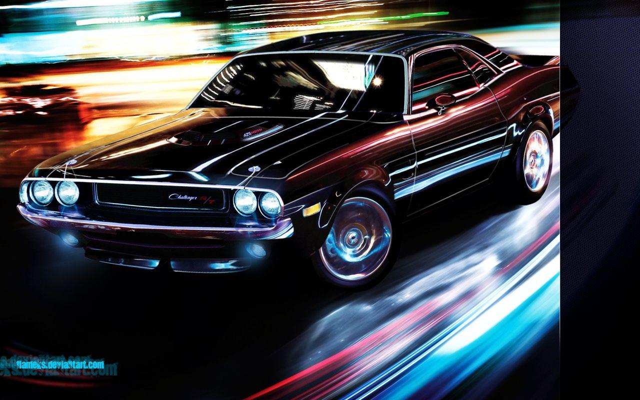 Muscle Car Hd Wallpapers 1080p Dodge Challenger Tuning Wallpaper Prosjekter Du Kan