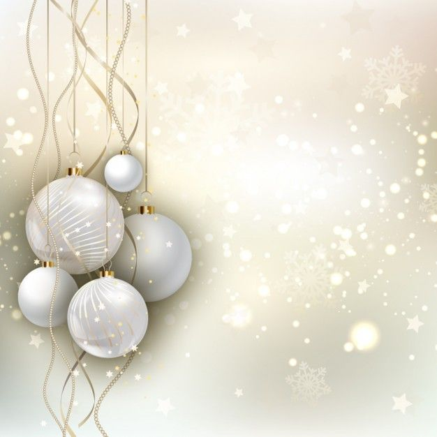 Cute Background Wallpaper Pinterest Golden Christmas Background With Baubles Vector Free