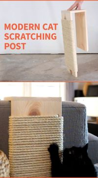 DIY Modern Cat Scratching Post   Cat scratching post ...