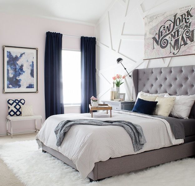 Navy Blue Bedroom Curtain Ideas 15 Ways To Decorate With - bedroom curtains ideas