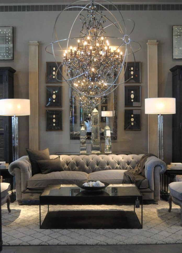 29 Beautiful Black and Silver Living Room Ideas to Inspire - silver living room furniture