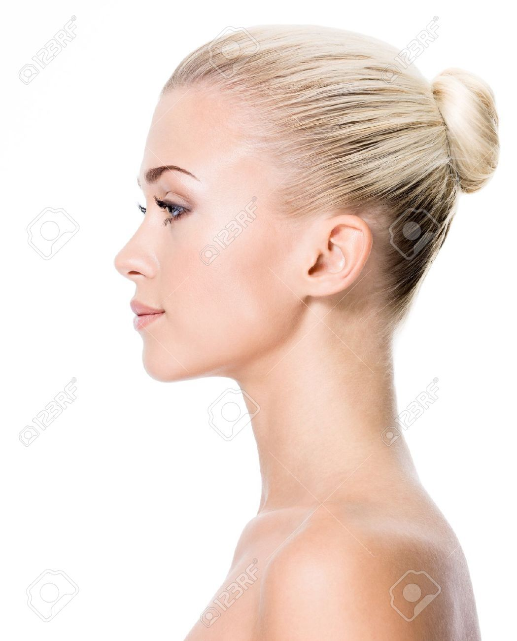 Woman Profile 17642694 Profile Portrait Of Young Blond Woman Isolated
