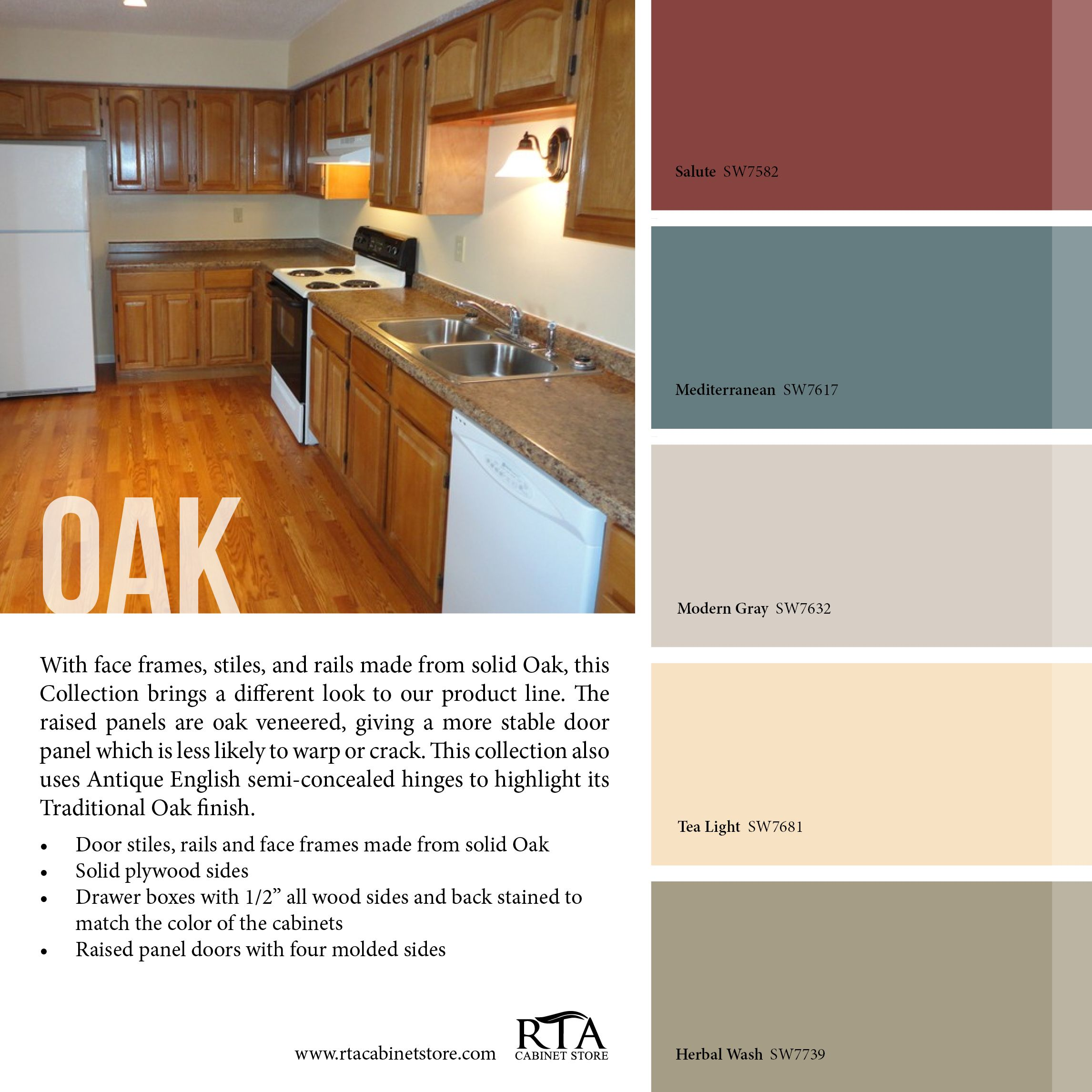 Kitchen Colors That Go With Oak Cabinets Color Palette To Go With Our Oak Kitchen Cabinet Line