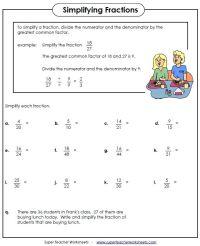 Simplifying Fractions Worksheet | Kids IPad Apps Reading ...