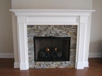 Leesburg Wood Fireplace Mantel - Custom | Wood mantels ...