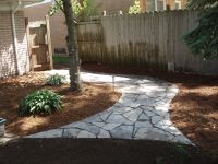 grassless backyard landscaping ideas | Mulch and Compost ...