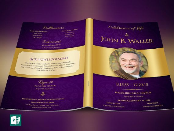 Regal Funeral Program Publisher Template is created in Microsoft - funeral program template microsoft