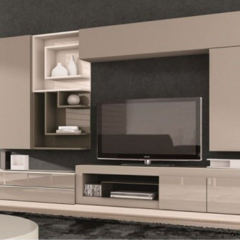 Meuble Living Tv Meuble Tv Design Taupe Juana | Living Room Inspiration