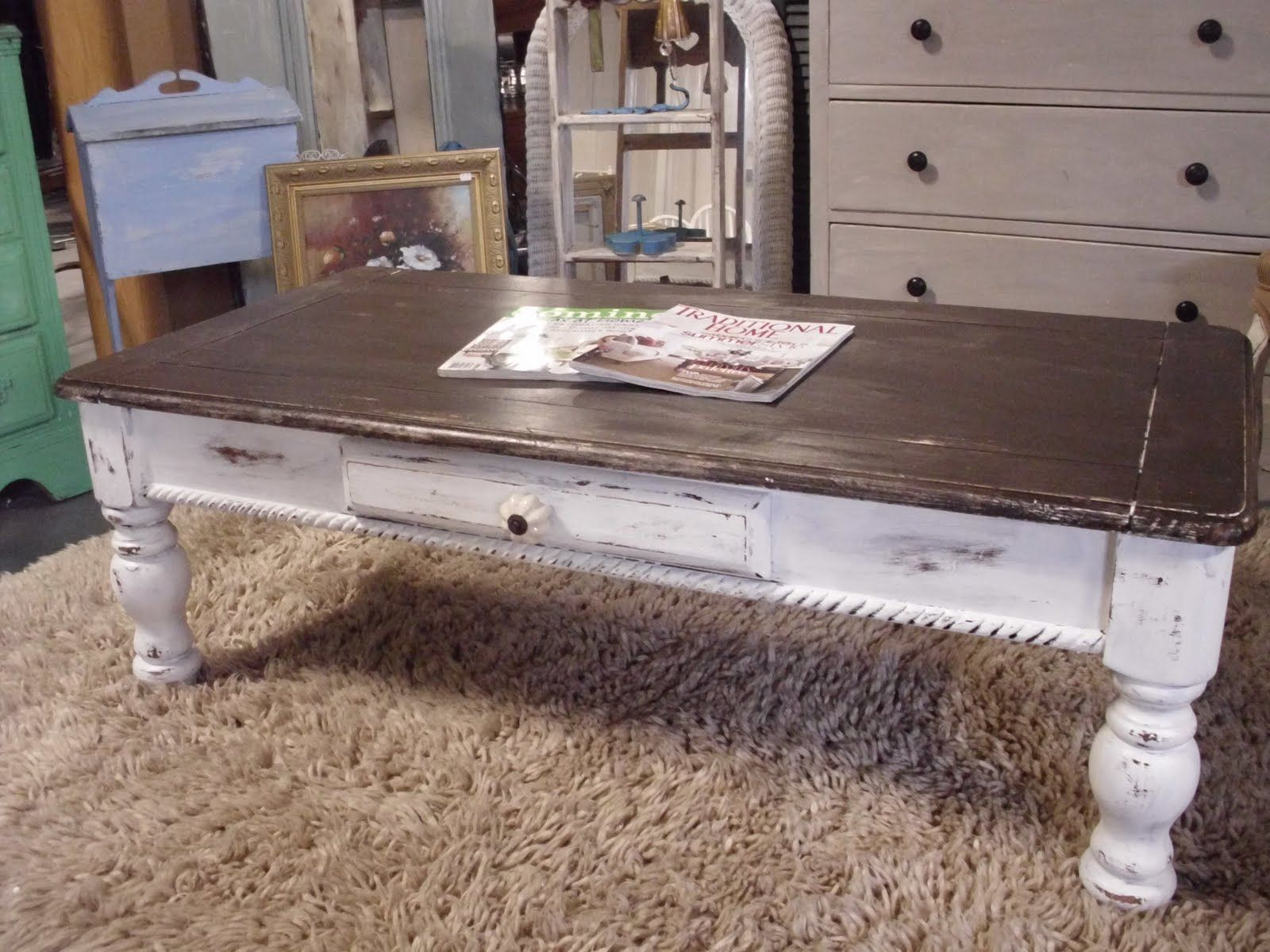 Rustic Beach Coffee Table The French Flea Distressed Coffee Table Beach Furniture