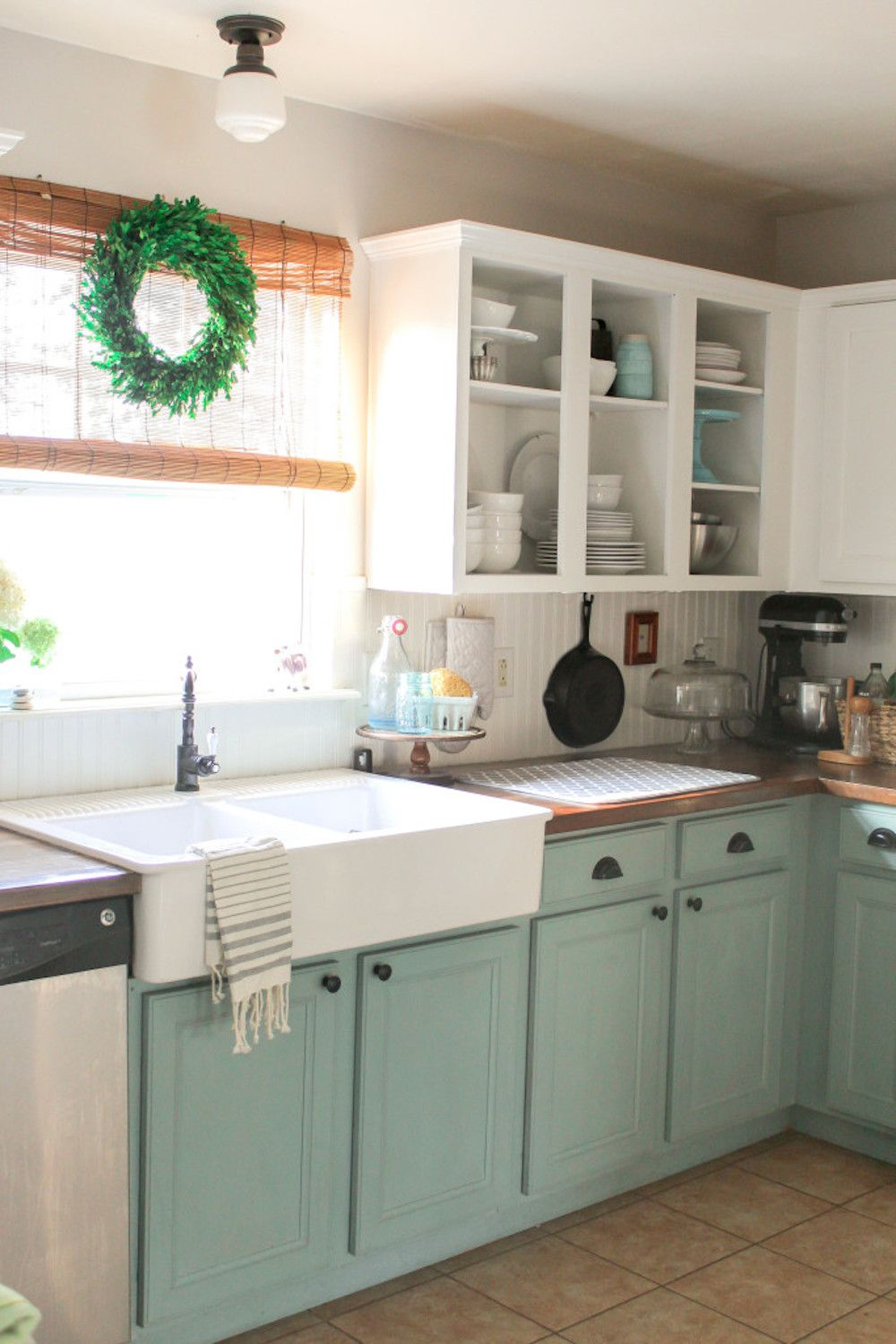 two toned kitchen cabinets Chalk Paint and Colors in Design Forecast Two tone kitchen cabinets using