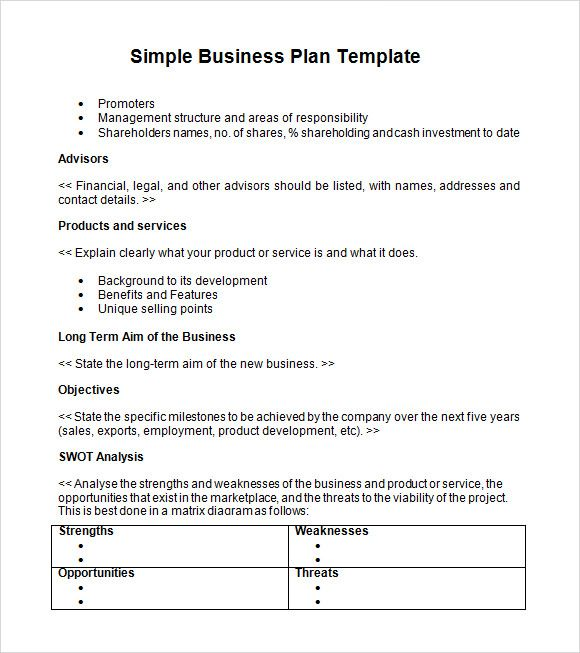 simple business plan templates,creating a business plan Business - service plan templates