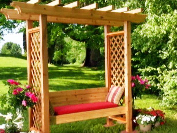 Building an Arbor  How-To  DIY Network Garden Pinterest - garden arbor plans designs