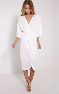 Pretty Little Thing White Wrap Dress - Google Search ...