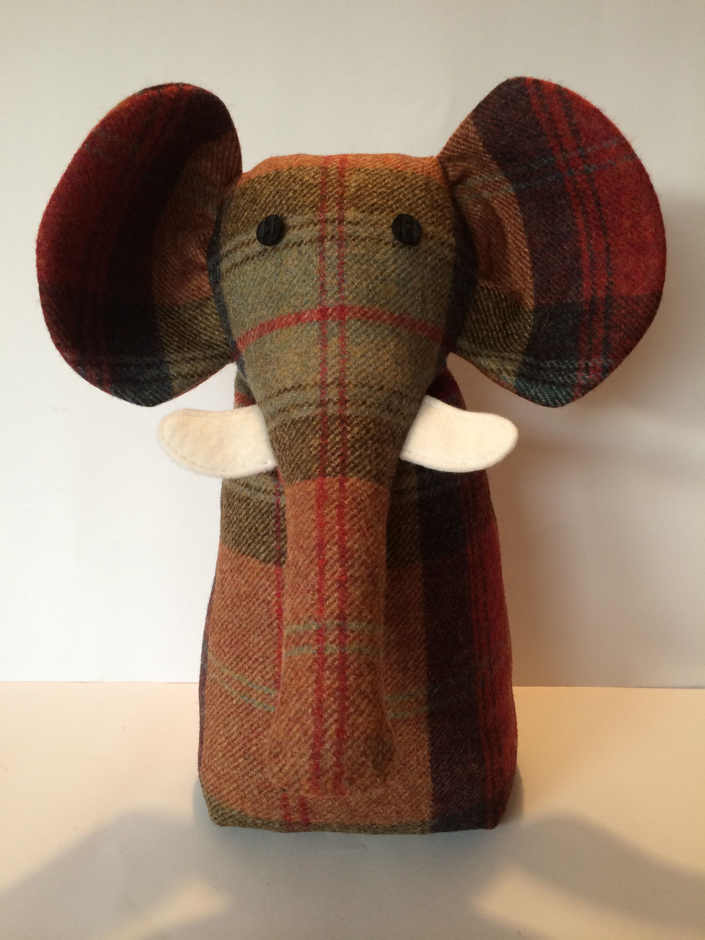 Fabric Door Stopper Tweed Fabric Elephant Door Stop Exclusively Designed