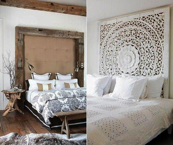 schlafzimmer ideen für rustikale bett kopfteile aus - schlafzimmer einrichten holz