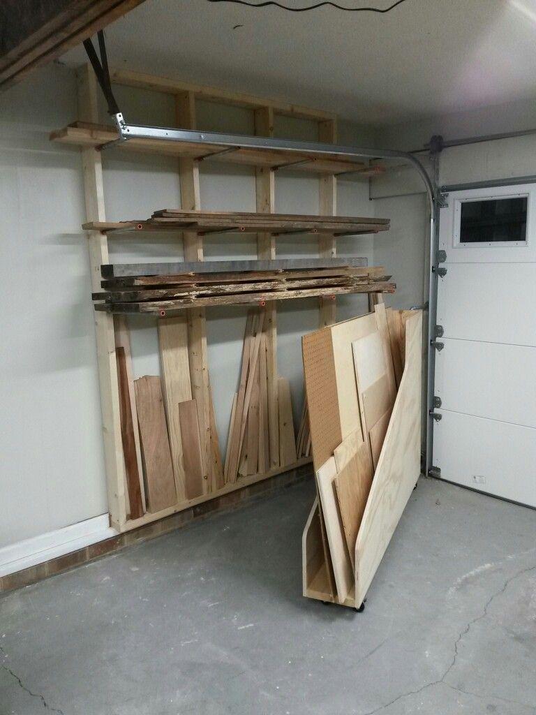 Lumber Storage Area Horizontal Storage For Longer Pieces