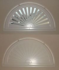 Moveable arched window treatments for half & quarter ...