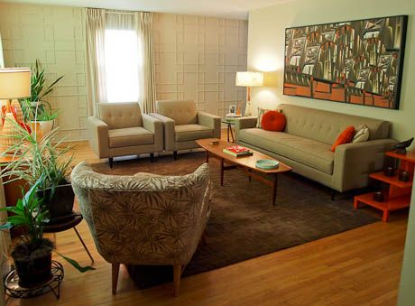 Dave makes mid century modern wall panels for his living room for - mid century modern living room