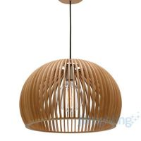 $399 450mm JD Lighting Mercator Cuzco Timber Pendant Light ...