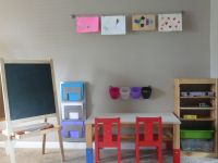 IKEA art center trofast storage, sansad table, kritter ...