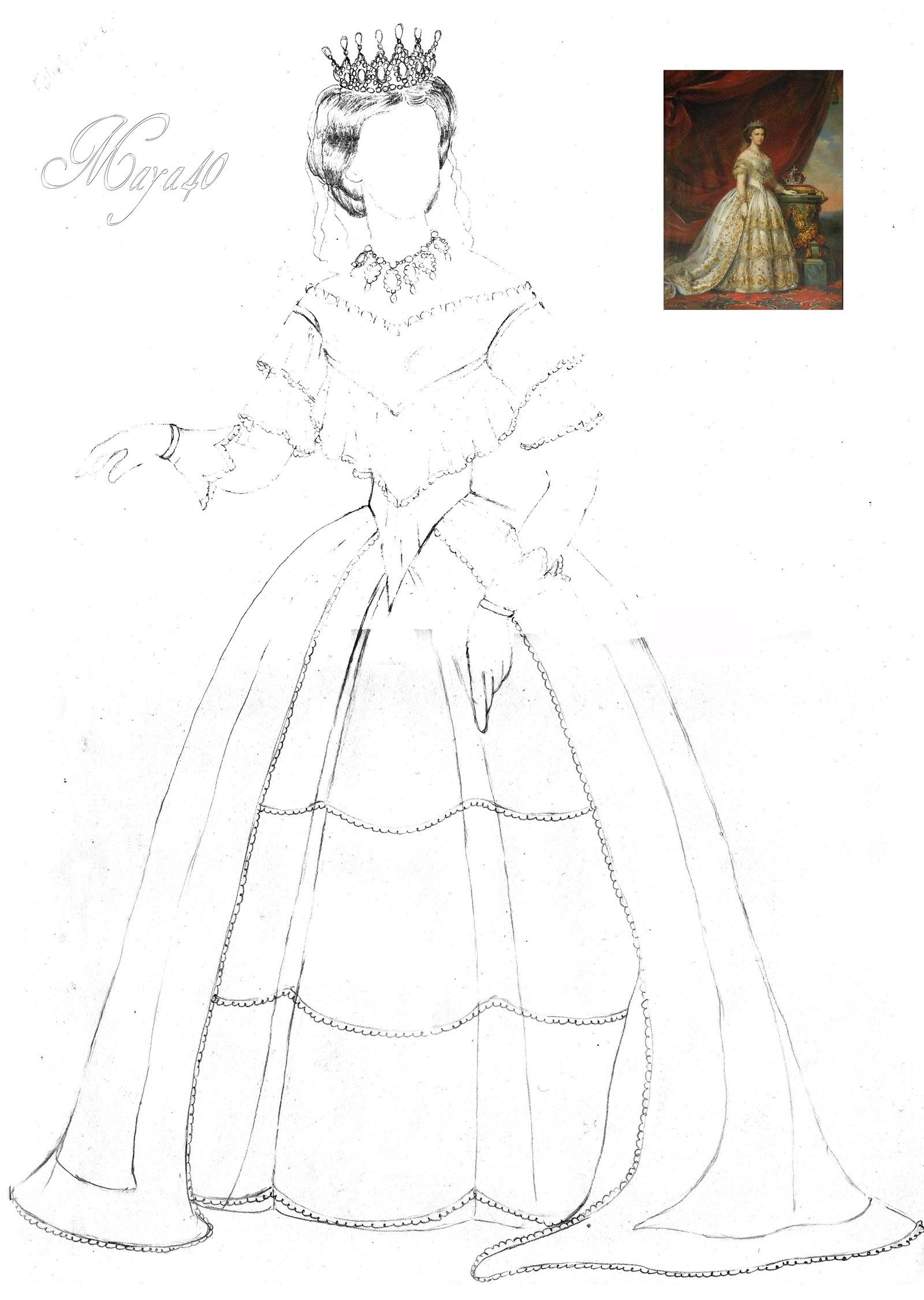 Gallery of princess sissi coloring pages
