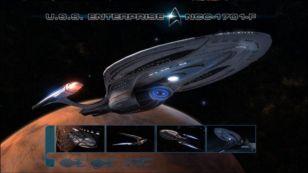 Star trek ship designs early look at star trek online s uss enterprise f saucer separation