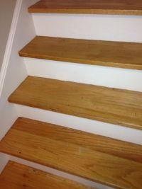 white oak stair treads | Replacing Oak Stair Tread ...